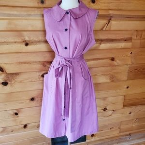 1970s Montgomery Ward Pink/Purple Poly/Cotton Dres